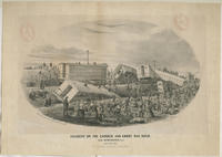 Accident on the Camden and Amboy Railroad, near Burlington, N.J. Aug. 29th 1855. 21 persons killed, 75 wounded.