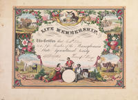 Pennsylvania State Agricultural Society. [life membership certificate]