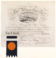 The Albion Society. [membership certificate]
