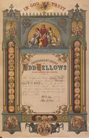 Independent Order of Odd Fellows [membership certificate]