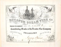 Decatur Steam Fire Co. membership certificate