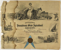 Diploma of the Pennsylvania State Agricultural Society.