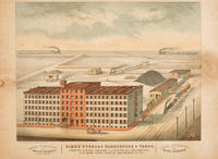 Simes' storage warehouse & yards. Trenton Avenue, Somerset, and Fulton sts. Philadelphia. Down-town office, 224 Walnut St.