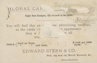 Edward Stern & Co., printer and lithographer. 125 & 127 N. Seventh St. Philadelphia.