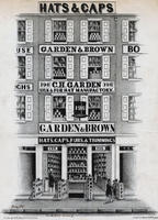 [Garden & Brown, silk & fur hat manufactory, 196 Market Street, Philadelphia]
