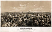 Philadelphia, from the State House steeple, north, east and south.