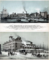 Warnick & Leibrandt's Philadelphia stove works and hollow-ware foundry. First wharf above Noble St. Philadelphia.