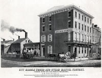 City Marble Works and Steam Mantel Factory. Corner Tenth and Vine Streets Philadelphia. J.E. & B. Schell.