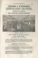 Wagner & M'Guigan's lithographic drawing, engraving, and printing establishment.