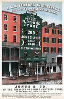 Jones & Co. of the crescent one price clothing store, No. 200 Market Street, above 6th Phila.