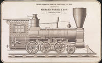 Freight locomotive engine for Pennsylvania Rail Road manufactured by Richard Norris & Son Philadelphia.