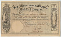 The North Philadelphia Plank Road Company [stock certificate]