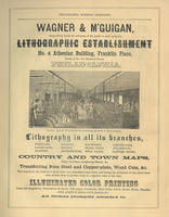 Wagner & M'Guigan, respectfully invite the attention of the public to their extensive lithographic establishment no. 4 Athenian Building, Franklin Place, north of no. 111 Chestnut Street, Philadelphia.
