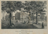 South west view of West-Town Boarding School. Chester Co. Penna. Instituted 1794, opened 1799, enlarged 1847.