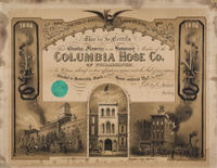 Columbia Hose Co. of Philadelphia [membership certificate]
