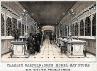 Charles Oakford & Sons model hat store nos 826 & 828, Chestnut Street, Continental Hotel. Philadelphia. Hats, caps & furs, wholesale & retail.