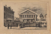 Friend's Meeting House & School. Race St. East of 16th.
