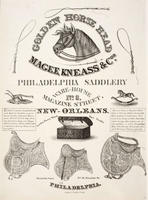 Magee, Kneass & Co. Philadelphia Saddlery, ware-house no. 6 Magazine Street, New-Orleans, manufactory, no. 18 Decatur St., Philadelphia.