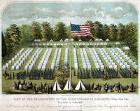 View of the encampment of the Corn Exchange Regiment 118th. Penn. Vols. near Falls of Schuylkill.