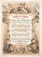Stein & Jones, steam power printers & lithographers, no. 321 Chestnut Street, Philadelphia.
