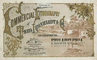 Commercial lithography of Theo. Leonhardt & Co., 324 Chestnut St. Philadelphia.