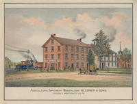 Agricultural Implement Manufactory. Heebner & Sons. Lansdale, Montgomery Co. PA.