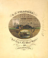 O.N. Thacher, wholesale & retail hat, cap, & fur ware-house Nth Third St. No. 40 opposite the City Hotel Philadelphia.