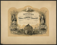 [Diploma of the Philadelphia Society for Promoting Agriculture at the annual exhibition held at Powelton, Philadal Sept. 1860]