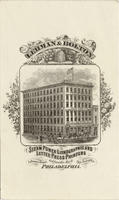 Lehman & Bolton steam power lithographic & letter press printing rooms. Library Street, Goldsmith's Hall. Opp. Post Office, Philadelphia.