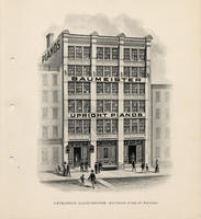 Catalogue illustration - Exterior view of factory.
