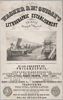 Wagner & McGuigan's lithographic establishment for drawing lettering & printing no. 116 Chesnut [sic] St. Philadelphia.