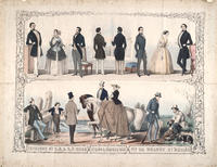 Fashions by S.A. & A.F. Ward, spring & summer 1850, no. 62 Walnut St. Philad.