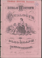 Thomas Hunter, successor. Duval & Hunter's catalogue of oleograph publications for the season 1873-4.