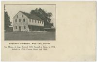 Byberry Friends' Meeting House, first house of logs, erected 1692; second of stone, in 1714; rebuilt in 1753; present house built 1808.