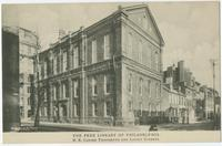 The Free Library of Philadelphia, N.E. corner Thirteenth and Locust Streets.