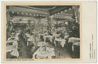 Cafe L'Aiglon, corner of main dining room, Chestnut and Fifteenth Streets, Philadelphia.