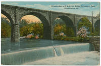 Fairmount Park high stone bridge postcards.
