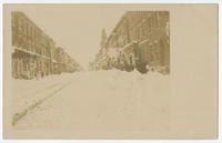 [Columbia Avenue covered in snow during the Businessmen's Carnival.]