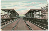 Elevated railroad bed postcards.