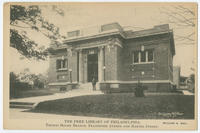 The Free Library of Philadelphia, Thomas Holme Branch, Frankford Avenue and Hartel Street.