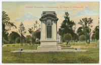 Soldiers' monument commemorating the Battle of Germantown postcards.