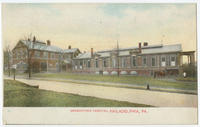 Germantown Hospital postcards.
