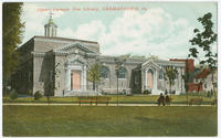 Carnegie Free Library postcards.