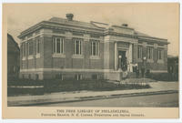 The Free Library of Philadelphia, Passyunk Branch, N.E. corner Twentieth and Shunk Streets.
