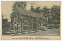 The Free Library of Philadelphia, Falls of the Schuylkill Branch, Warden Drive and Midvale Avenue.