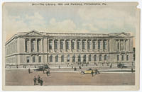 Central Library, Free Library of Philadelphia postcards.