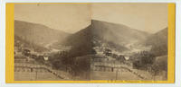 [View of a farm in a river valley in the mountains, Schuylkill County, Pa.]