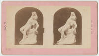 [Stone statue of seated man with reclining head]