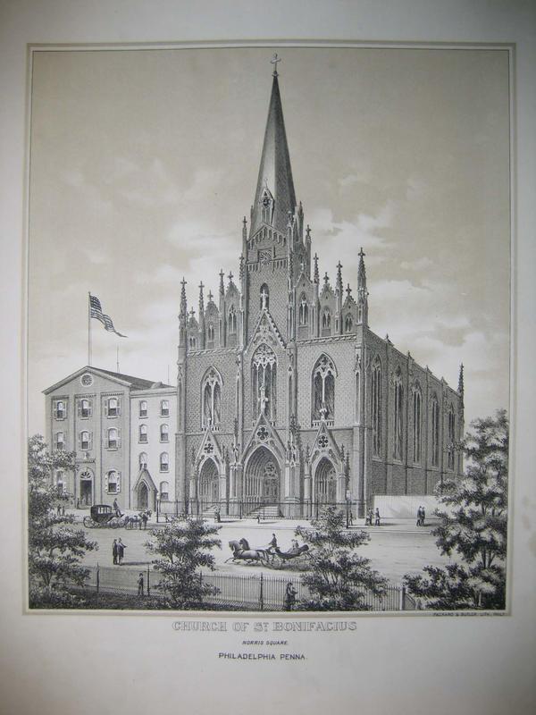 st  bonifacius church  norris square philadelphia  penna   graphic