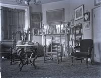 Parlor of Grumblethorp, showing chair given to Wister family by Count Zinzendorf, founder of Moravian church in Penna. [graphic].